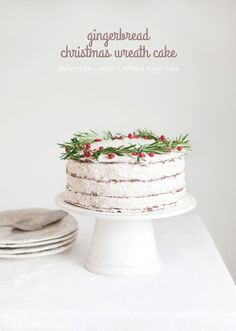 gingerbread christmas wreath cake (gluten-free/vegan/nut-free)