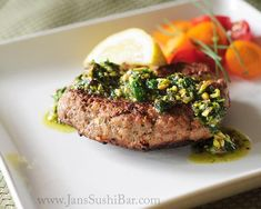 Recipe: Recipes I want to Try / Lamb Burgers with Mint-Pistachio Pesto - tableFEAST