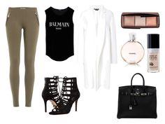 """Expensive"" by amuramasri on Polyvore featuring mode, Michael Kors, Emilio Pucci, Rochas, Balmain, Hermès, Hourglass Cosmetics en Chanel"