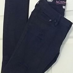 Distressed black denim jeans Bullhead  super skinny Bullhead Jeans Skinny