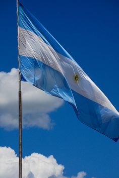 The blue represents the elements of vigilance, truth, loyalty, perseverance and justice. The white represents peace and honesty. The sun represents the May Sun. Flag of ARGENTINA Argentina Country, Visit Argentina, Latin America, South America, Pictures Of Flags, Argentina Culture, Beyond The Horizon, Flags Of The World, America