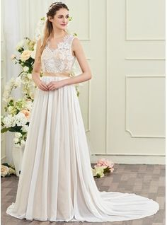 b518ba8bfc A-Line Scoop Neck Knee-Length Lace Wedding Dress (002052768). Tania Suknia  ŚlubnaSukienki ...