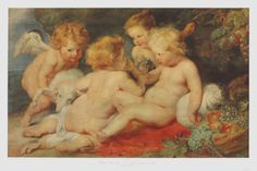 The Christ Child, St.John and Angels Collectable Print by Peter Paul Rubens at Art.com
