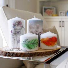 DIY Printed Candles | Super Easy! | Ann Le Style