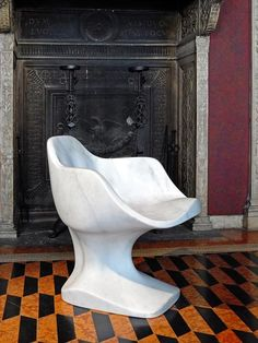 Milan 2013:Netherlands-based designerTomáš Gabzdil Libertíny presented a solid marble chair at the Bagatti Valsecchi exhibition curated by Rossana Orlandi in Milan.