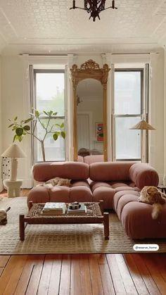 Home Room Design, Dream Home Design, Interior Design Living Room, Living Room Designs, Cozy Living Rooms, Home Living Room, Living Room Decor, Mid Century Modern Living Room, House Rooms