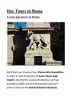 Day tours in rome by Rome Surroundings via slideshare