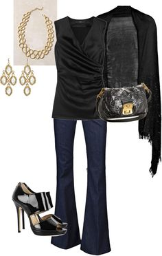 """""""dinner out - black"""" by stantau on Polyvore"""
