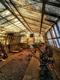 Perfectly lit abandoned greenhouse. Still might be used as evident by a few of the plants on the right hand sight, but still worth a look. #abandonedhouse #abandonedearth #forgottenplaces #ruins #urbex #abandonedworld #abandoned_seekers #abandonedphotography #abandoned_junkies #urbandecay #decay Abandoned Property, Abandoned Buildings, Abandoned Places, Hiding Places, Places To See, Urban Exploration, Ghost Towns, Urban Decay, View Photos