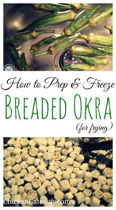 Okra is awesome - especially fried okra! We were lucky enough to be gifted a bag of beautiful freshly picked okra, here's how we breaded it, and prepped it for freezing.