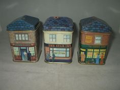 """Bentley/'s Of London Small House Shaped Tin /""""Topping Toys/"""" Shop Window Display"""