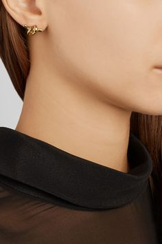 Jennifer Fisher | Large Knot gold-plated earrings | NET-A-PORTER.COM