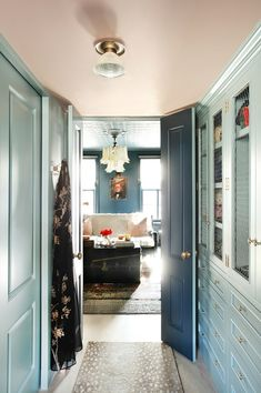 Inside Interior Designer Jenny Wolf's Newly Renovated Cobble Hill Brooklyn Townhouse | Vogue Brooklyn, Target Home Decor, Cheap Home Decor, Pink Ceiling, D House, Master Closet, Master Bedroom, Pax Closet, Hallway Closet