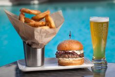 Everything about this meal looks good. Get it at B&B Burger & Beer at the Venetian in #Vegas. #Burgers #Beer