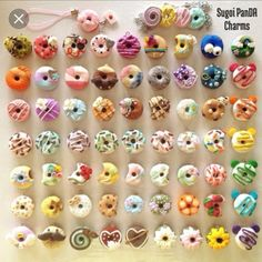 Sugoi PanDA Charms : Photo Polymer Clay Donuts Trending Craft Ideas Using Paper Mache, Air Dry Clay, Polymer Clay Kunst, Polymer Clay Kawaii, Polymer Clay Miniatures, Fimo Clay, Polymer Clay Charms, Polymer Clay Projects, Polymer Clay Creations, Handmade Polymer Clay, Clay Crafts