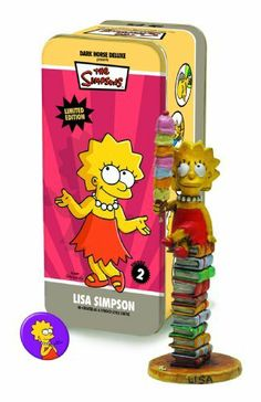 "Classic Simpsons Character #2: Lisa Simpson Statuette by Dark Horse Comics. $36.85. Limited edition of 950 numbered pieces. Packaged in a litho-printed full-color tin box. Booklet included. Inspired by the Syroco statues of the '40s. Includes vintage-style pinback button. From the Manufacturer                Inspired by the Syroco statues of the 1940's, Dark Horse's series of ""Classic Comic"" statuettes have been a huge success.  Sculpted with flair and grace at Yoe! Studios, ne..."