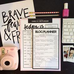 Cute Desktop Planner + Blog Notepads