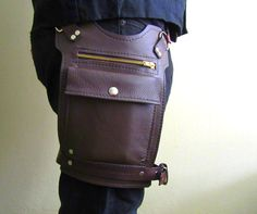 Road Warrior Unisex Brown Leather Hip Bag by SanFilippoLeather, $185.00