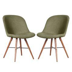 stuhlset clam holzfu 2er set stoff kira grau holzfu. Black Bedroom Furniture Sets. Home Design Ideas