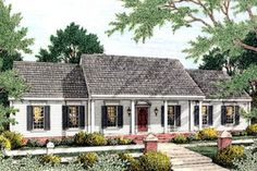 Exterior - Front Elevation Plan #406-128 - Houseplans.com