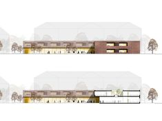 Library Architecture, Architectural Section, Floor Plans, Layout, Mansions, House Styles, Schools, Home, People