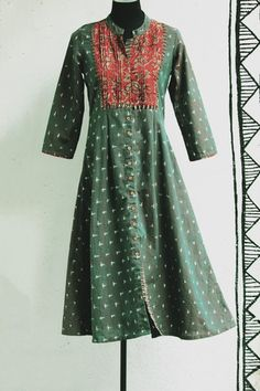 dress - ikat & green – maati crafts