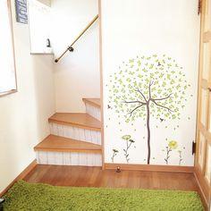 mokaさんの、玄関/入り口,ウォールステッカー,100均,100均リメイク,リメイクシート,のお部屋写真