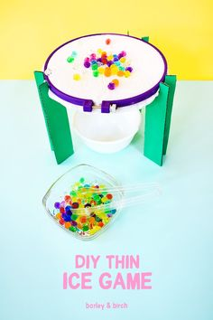 DIY thin ice game from simple supplies you already have! An awesome fine motor skill and sensory activity for kids! a DIY thin ice game from simple supplies you already have! An awesome fine motor skill and sensory activity for kids! Sensory Activities For Preschoolers, Stem Activities, Toddler Activities, Preschool Science, Toddler Learning, Family Activities, Learning Activities, Games For Kids, Diy For Kids