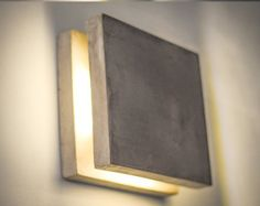 wall lamp dimmer concrete Q64 handmade. plug in wall by dtchss