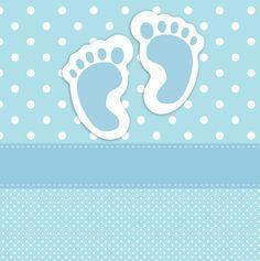 Huellas del bebé tarjeta