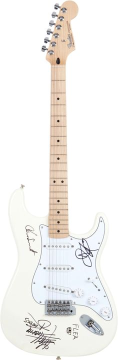Red Hot Chili Peppers Autographed Fender Guitar.