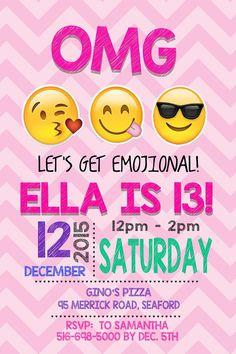 EMOJI BIRTHDAY INVITATION Emojis Emoji Invite por Asapinvites
