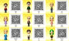 Tomodachi 3ds Qr Codes Kawaii Google Search Coding Animal Crossing Qr Yandere Simulator
