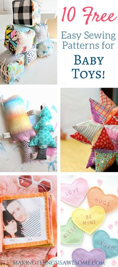Sewing Toys, Baby Sewing, Free Sewing, Sewing For Kids, Diy For Kids, Diy Toys For Babies, Baby Diy Toys, Diy Baby Gifts, Homemade Baby Toys