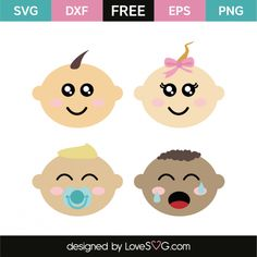 *** FREE SVG CUT FILE for Cricut, Silhouette and more *** Babies