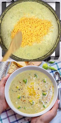 Healthy Broccoli Cheddar Soup Recipe- a healthier version of the classic broccoli and cheddar soup. Made with milk instead of cream and loaded with Broccoli, carrots, and celery. Easy to make, filling Broccoli Soup Recipes, Easy Soup Recipes, Easy Dinner Recipes, Vegetarian Recipes, Cooking Recipes, Healthy Recipes, Easy Cream Of Broccoli Soup Recipe, Healthy Broccoli Recipes, Recipes With Milk