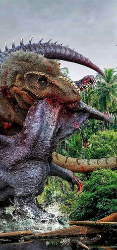 jurassic world trex and indominus rex posters  geek