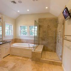 Master Bath Design, shower seat