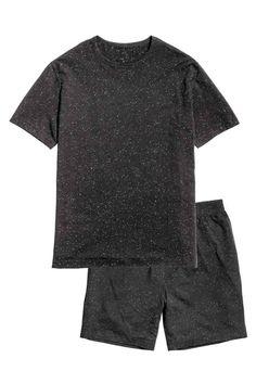 Piżama z T-shirtem i szortami | H&M