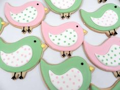 cute songbird cookies. trying to determine if I can use our icing with the techniques for royal icing...