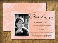 vintage grauation ideas | Digital Printable 2013 Graduation Invitations. DIY. Custom. Digital ...