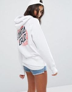 Santa Cruz Oversized Hoodie With Pop Print Logo