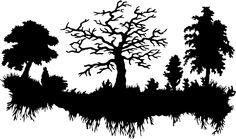 free silhouette scenes - Google Search
