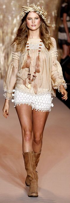 Boho chic fashion, Modern hippie lifestyle.