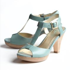 "Seychelles Seafoam Heels Worn a couple times but still in excellent condition!  - Leather - Manmade sole - Heel measures approximately 3.25"" - Platform measures approximately 0.5"" Seychelles Shoes Heels"