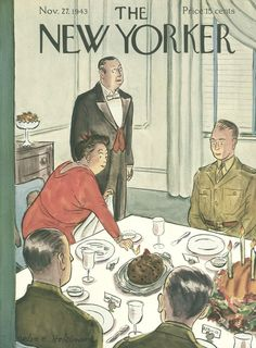 The New Yorker - Saturday, November 27, 1943 - Issue # 980 - Vol. 19 - N° 41 - Cover by : Helen E. Hokinson