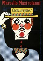 Original posters for Italian films - collection of award-winning, original, Polish posters. Polish Posters, Marcello Mastroianni, French Films, Warsaw, Old School, Illustration Art, Baseball Cards, Gallery, Artist