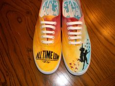 Hand Painted All Time Low Shoes on Etsy, $40.00 They even make them in a size 11, Brooke!