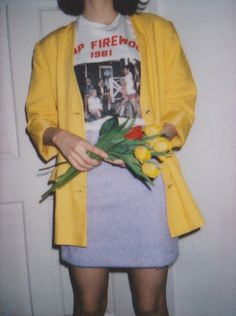 Vintage Oversized Yellow Blazer from Freckle London.