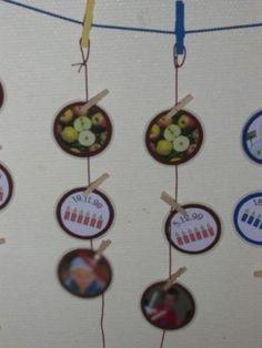 Verjaardagskalender klas verjaardag pinterest for Raumgestaltung nach montessori